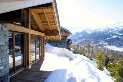 Chalet-IPG-montagne-Meribel-JMV-Resort-neige-façade vue d'extérieur-bois