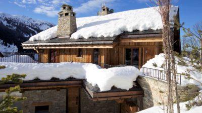 Chalet-IPG-montagne-Meribel-JMV-Resort-façade extérieur-neige-toits