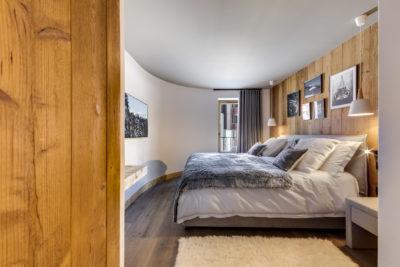 Résidence - La Forêt - Val d'Isère - chambre - lit double - JMV Resort