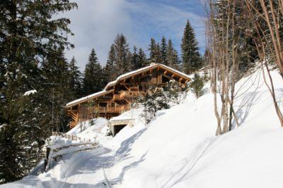 Chalet-Le-grand-cerf-montagne-Meribel-JMV-Resort-extérieur-neige-forêt-tranquillité