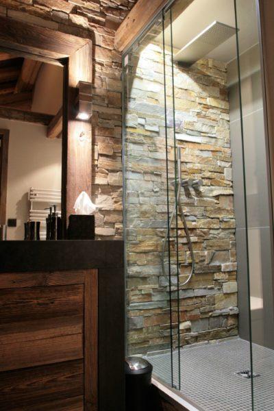 Chalet-Le-refuge-montagne-Meribel-JMV-Resort-salle de bain-douche à l'italienne