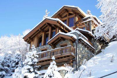 Chalet-P-montagne-Meribel-JMV-Resort-extérieur-façade bois-neige