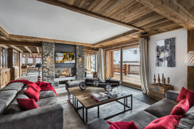 Chalet-Queen-Mijane-montagne-Meribel-JMV-Resort-salon- bois-canapés