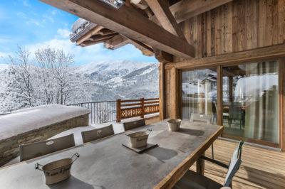 Chalet-Queen-Mijane-montagne-Meribel-JMV-Resort-neige-sapins-terrasse
