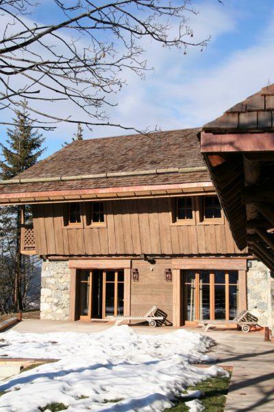 Chalet-R-montagne-Meribel-JMV-Resort-extérieur-façade bois-neige