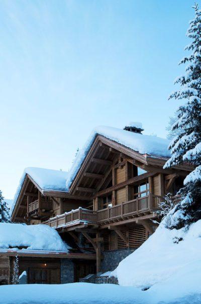 Chalet-SHL-montagne-Meribel-JMV-Resort-extérieur-bois-façade-sapin