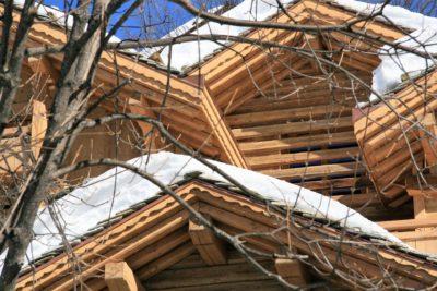 Chalet-SHL-montagne-Meribel-JMV-Resort-toits-neige-façade bois