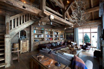 Chalet-SHL-montagne-Meribel-JMV-Resort-salon-intérieur-bois-canapés