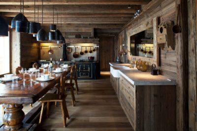 Chalet-SHL-montagne-Meribel-JMV-Resort-salle à manger-bois-lumières