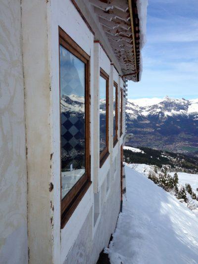 Folie-Douce-montagne-Saint-Gervais-Haute-Savoie-JMV-Resort-architectes extérieur vitre