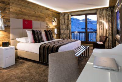 Hôtel-Koh-I-Nor-montagne-Val-Thorens-JMV-Resort-chambre-lit