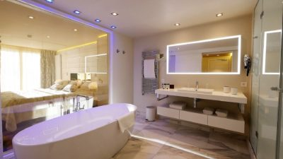 Hôtel-Tsanteleina-Val-D'Isere-JMV-Resort-architectes salle de bain