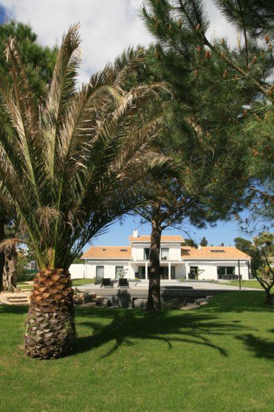Maison-rouge-contemporain-Montpellier-JMV-Resort -extérieur-jardin-palmier