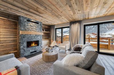 Résidence - La Forêt - Val d'Isère - salon - bois - JMV Resort