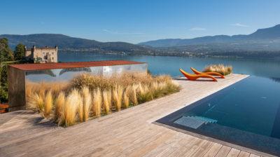 Maison Bourdeau - vue sur lac du bourget et montagnes- rooftop - piscine - château -JMV Resort