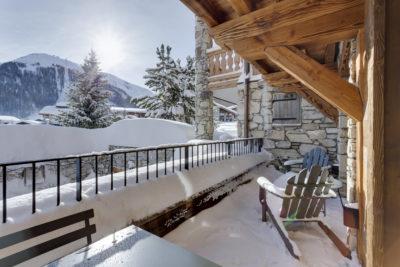 Résidence - La Forêt - Val d'Isère - extérieur - terrasse - neige - JMV Resort