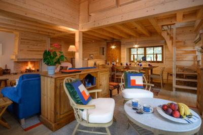 Chalet- Victoire Mijane - Méribel - intérieur - salon - bois - JMV Resort