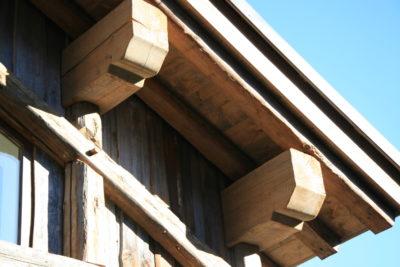 Chalet - La Grange - Méribel - façade pierre et bois - extérieur - toits - cuivre - JMV Resort