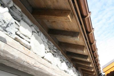 Chalet - La Grange - Méribel - façade pierre et bois - extérieur - toits- cuivre - JMV Resort
