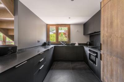 Résidence Staval architecture intérieur cuisine neige montagne jmv resort