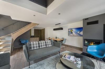 Résidence Staval architecture intérieur salon neige montagne jmv resort