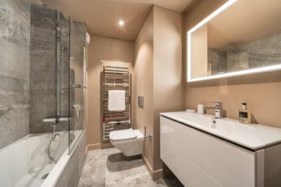 Résidence - ASPEN Les suites des 5 frères - Val d'Isère - montagne - architecture - jmv resort - salle de bain