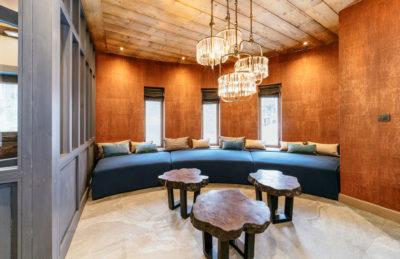 Résidence - ASPEN Les suites des 5 frères - Val d'Isère - montagne - architecture - jmv resort - hall d'entrée