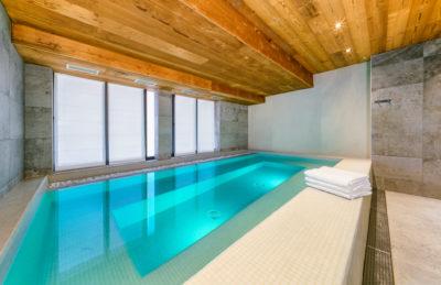 Résidence - ASPEN Les suites des 5 frères - Val d'Isère - montagne - architecture - jmv resort - piscine