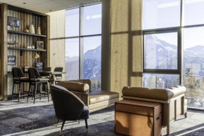 Club Med - La Rosière - Savoie - France - architecture d'intérieur - hall - canapé - fauteuils- montagne