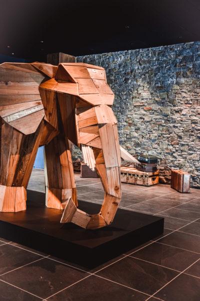 Club Med - La Rosière - Savoie - France - architecture d'intérieur - montagne - sculpture éléphant