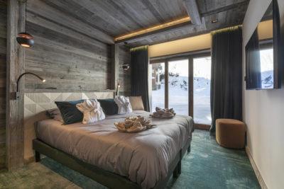 Chalet-Aspen - Avoriaz - montagne - architecture - intérieur - chambre
