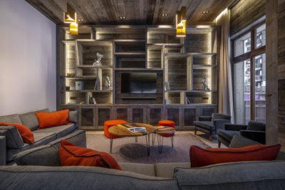 Chalet-Aspen - Avoriaz - montagne - architecture - intérieur - salon - canapés - luxe