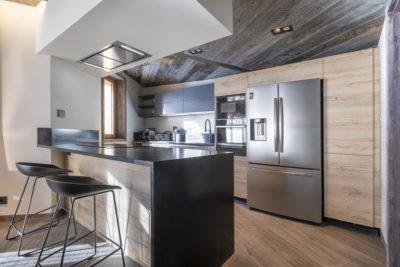 Chalet-Aspen - Avoriaz - montagne - architecture - intérieur - cuisine