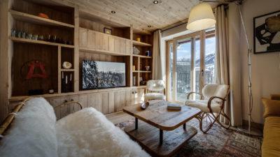 Résidence La Foret - Val d'Isère - Savoie - architecture - intérieur - salon - canapés
