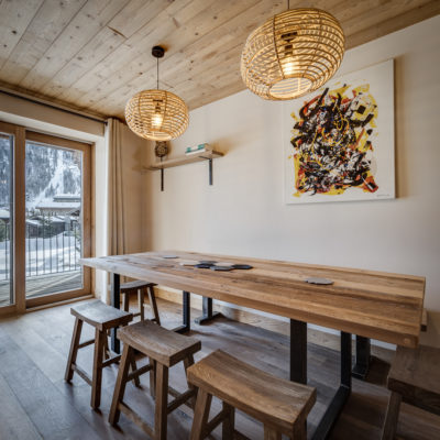 Résidence La Foret - Val d'Isère - Savoie - architecture - intérieur - table à manger