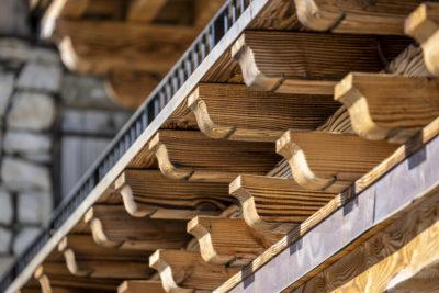 Résidence La Foret - Val d'Isère - Savoie - architecture d'extérieur - bois - façade - montagne - hiver - détails - luxe