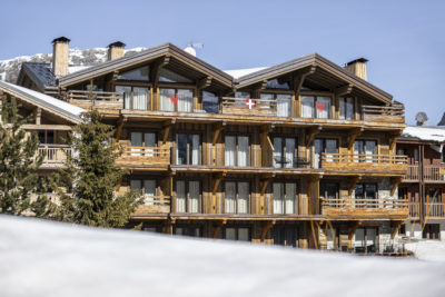 Résidence La Foret - Val d'Isère - Savoie - architecture d'extérieur - bois - façade - montagne - hiver - neige